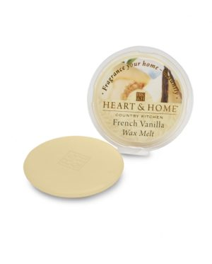 French Vanilla Wax Melt Heart and Home
