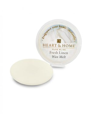 Fresh Linen Wax Melt Heart and Home