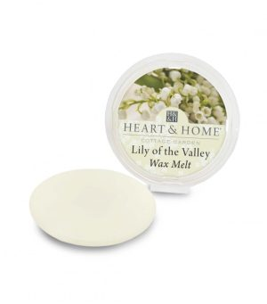 LIly of the Valley Wax Melt Heart and Home