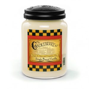 Candleberry Candles Single Barrel Vanilla Large Jar Candle