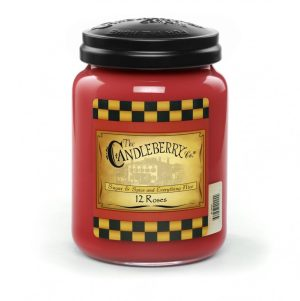 Candleberry Candles 12 Roses Large Jar Candle