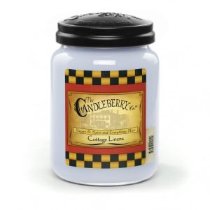 Candleberry Candles Cottage Linens Large Jar Candle
