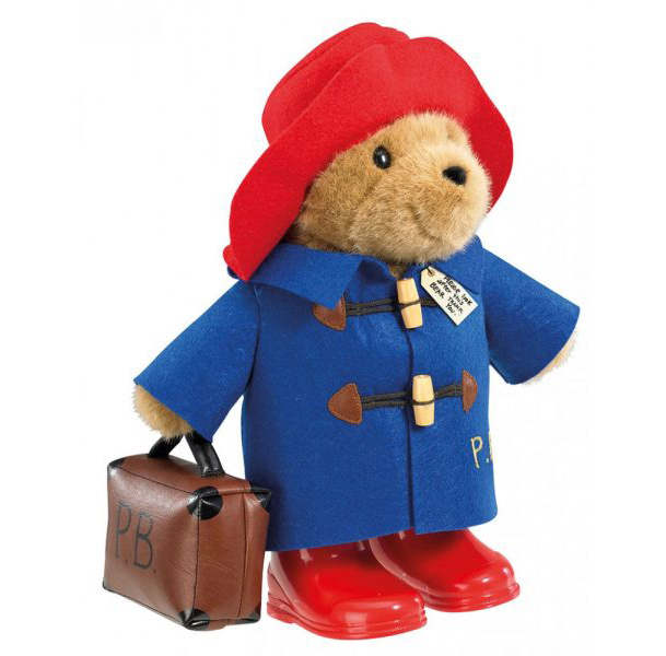 Paddington Bear Large Classic with Boots and Suitcase - Rainbow Designs