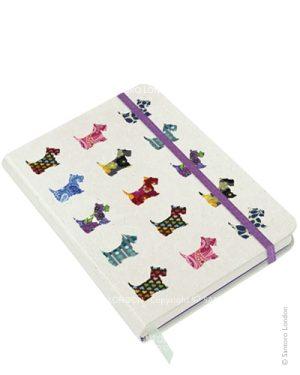 Santoro Eclectic Hardcover Notebook Scottie Dogs