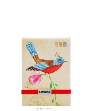 Santoro Eclectic Stitched Pocket Notebook - Summer Garden