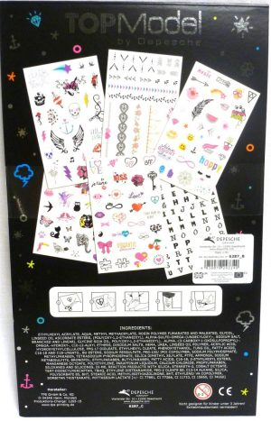 Top Model Temporary Tattoo Book Depesche