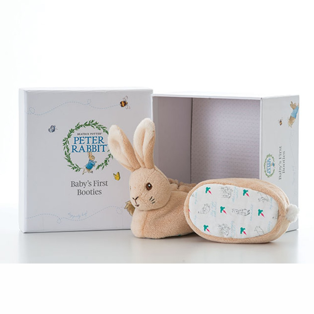 Peter Rabbit Baby Booties Gift Set Beatrix Potter RInbow Designs