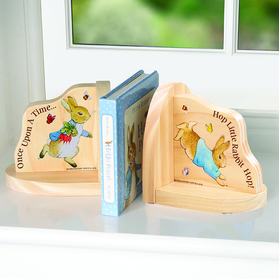 Beatrix Potter Wooden Bookends Peter Rabbit Rainbow Designs