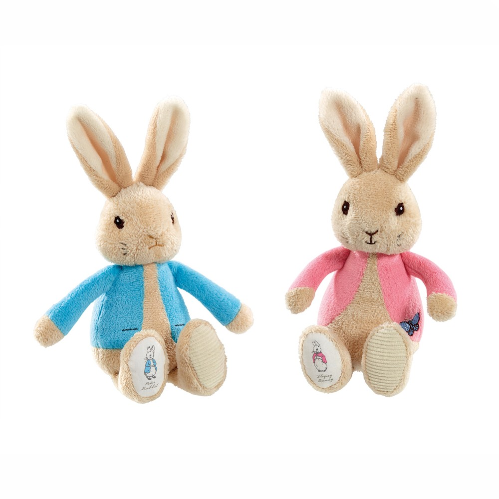 Peter Rabbit and Flopsy Bunny Beatrix Potter Bean Rattle Toy