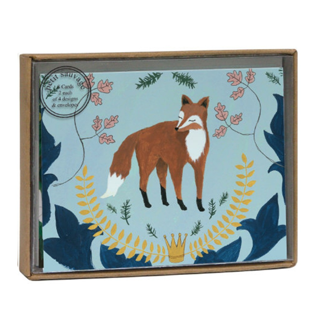 Roger La Borde Fox and Hare Luxury Notecare Box Notelets