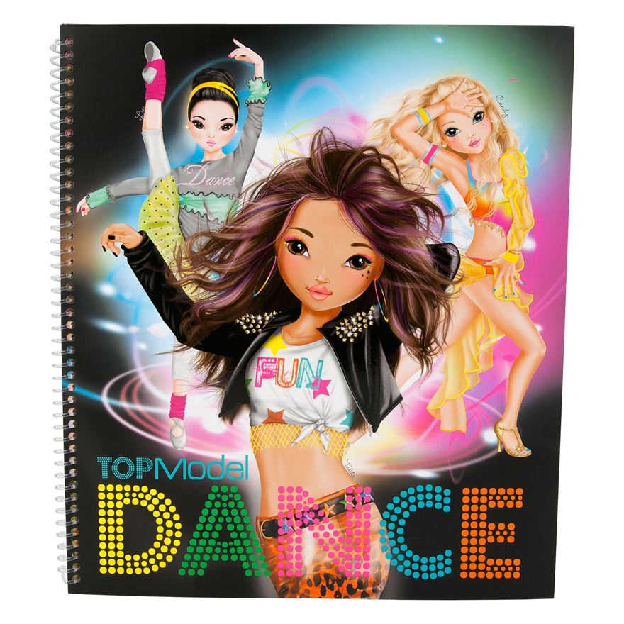 Top Model Dance Colouring Book Depesche Design 24 Gifts
