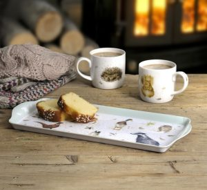 Wrendale Designs Small Melamine Sandwich Tray and Mugs Country Kitchen Hannah Dale
