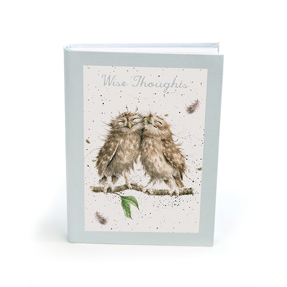 Wrendale Designs Hannah Dale Wise Thoughts Owl Notebook FN004