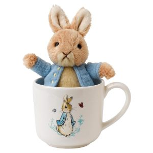 Peter Rabbit soft toy and mug set enesco gund