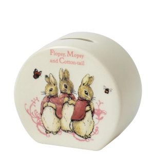 Beatrix Potter enesco Gund Peter Rabbit Flopsy Money Bank