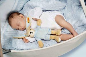 STEIFF Baby Hoppel Rabbit blue EAN 237508