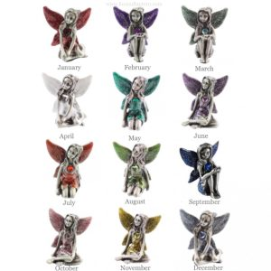 Leonardo collection pewter birthstone fairy Collection fox and lantern