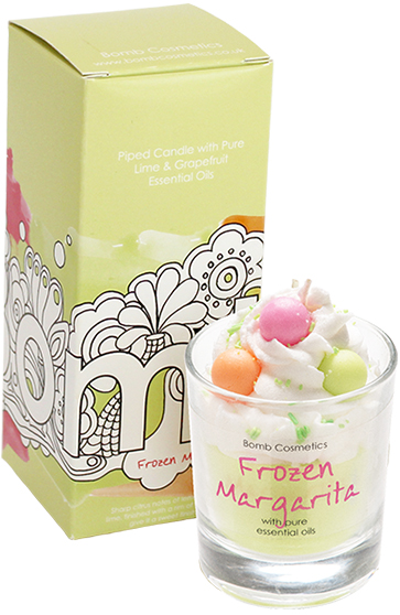 bomb cosmetics piped candle frozen margarita