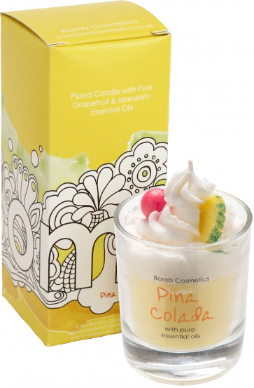 bomb cosmetics piped candle pina colada