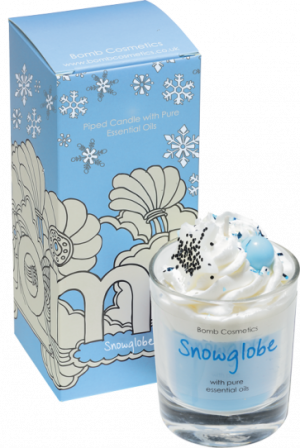 Snowglobe Piped Candle - Bomb Cosmetics