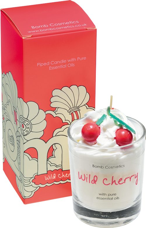 bomb cosmetics piped candle wild cherry