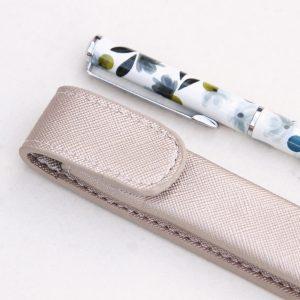Rose Tinted Pen & Metallic Pouch Gift Set