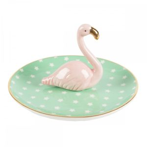 Tropical Flamingo Trinket Dish - Sass and Belle