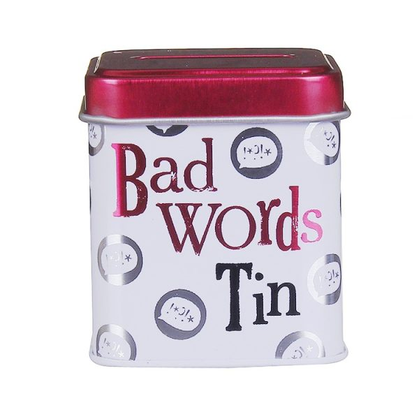 Bad Words Mini Money Box Tin - The Bright Side