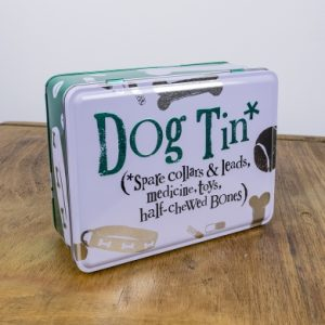 the bright side dog tin