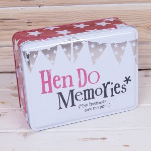 THE BRIGHT SIDE HEN DO MEMORIES TIN