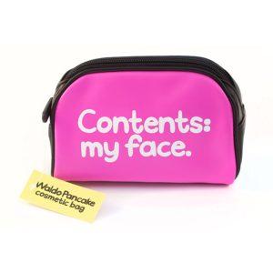 'Contents My Face' Makeup Bag - Waldo Pancake