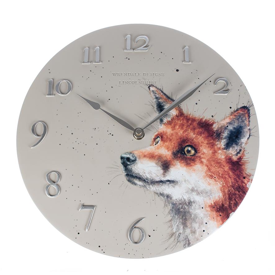 Fox Wall Clock - Wrendale Designs
