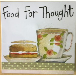 Food For Thought Magnetic Notepad - Alex Clark Art