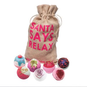Santa Says Relax Hessian Sack Bath Bomb Gift Set - Bomb Cosmetics