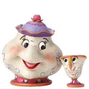 Enesco Disney Traditions Mrs Potts and Chip Figurine, A Mother's Love - Beauty and the Beast