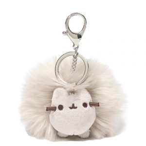 Pusheen Grey Pom Pom Key ring