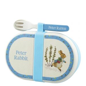 Peter Rabbit Organic Bamboo Snack Box with Cutlery Set