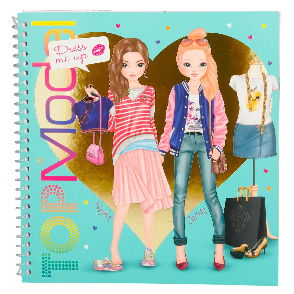 Top Model Pocket Colouring; Design; /& Sticker Book with 3D Cover Hayden 7857
