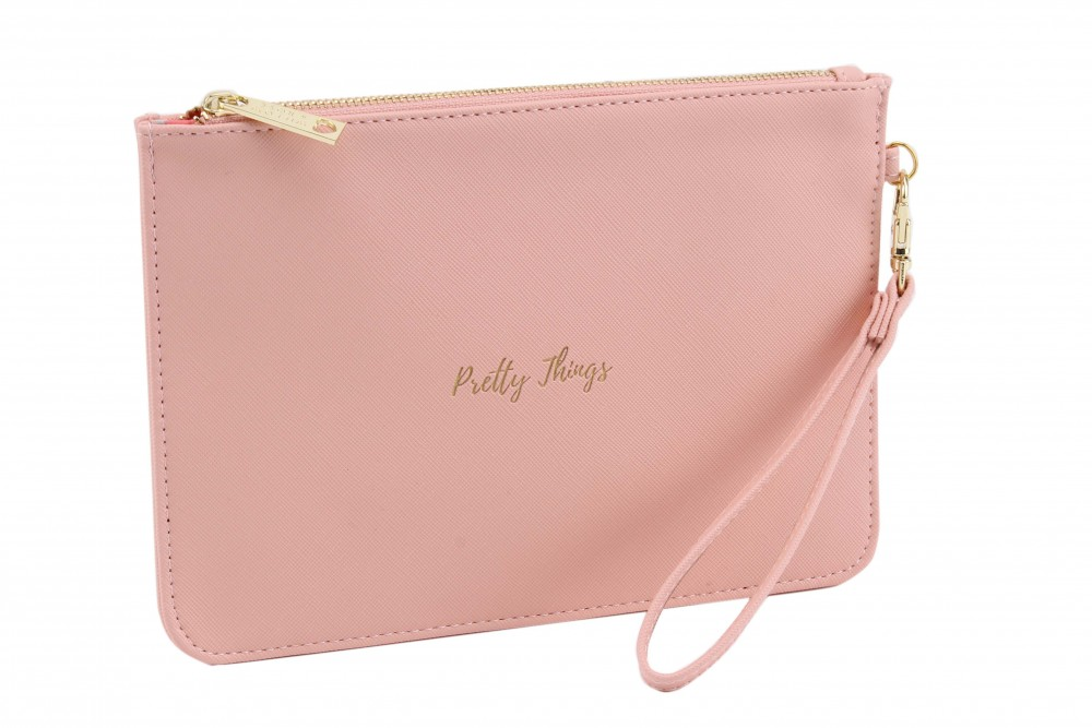 'Pretty Things' Coral Pink Beauty Bag - Willow & Rose