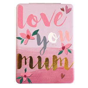"Disaster Designs Ta-Daa! ""Love You Mum"" Compact Mirror"