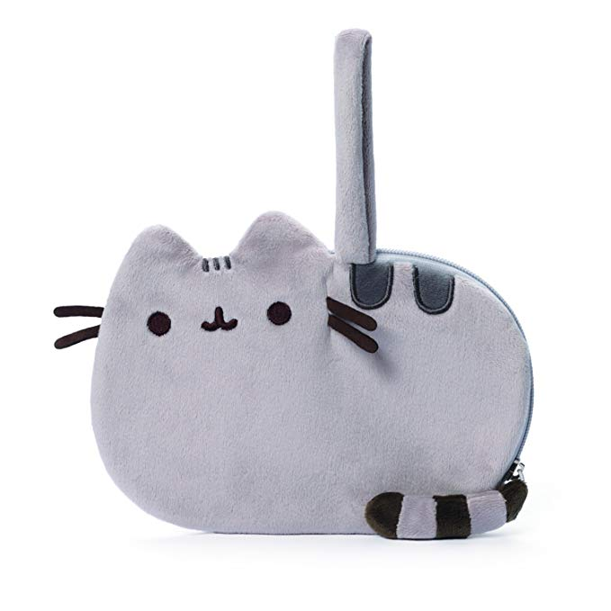 Official Licensed Gund Pusheen Plush Zip-Close Wristlet By Gund