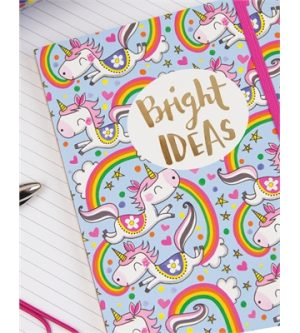 Bright Ideas Unicorns A5 Notebook - Rachel Ellen Designs