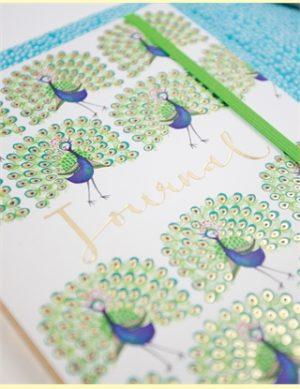 Peacock Journal A5 Notebook - Rachel Ellen Designs