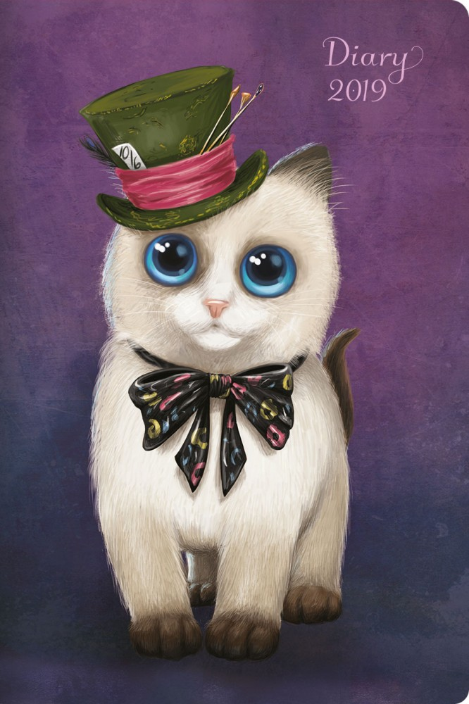 2019 Pocket Diary, Hatter Cat - Santoro