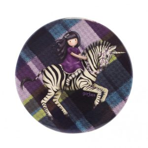 Gorjuss Tartan Pocket Mirror And Envelope - The Dark Streak