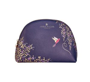 Navy Hummingbird Luxury Cosmetic Bag - Sara Miller London