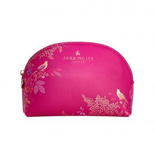 Pink Bird Luxury Cosmetic Bag - Sara Miller London