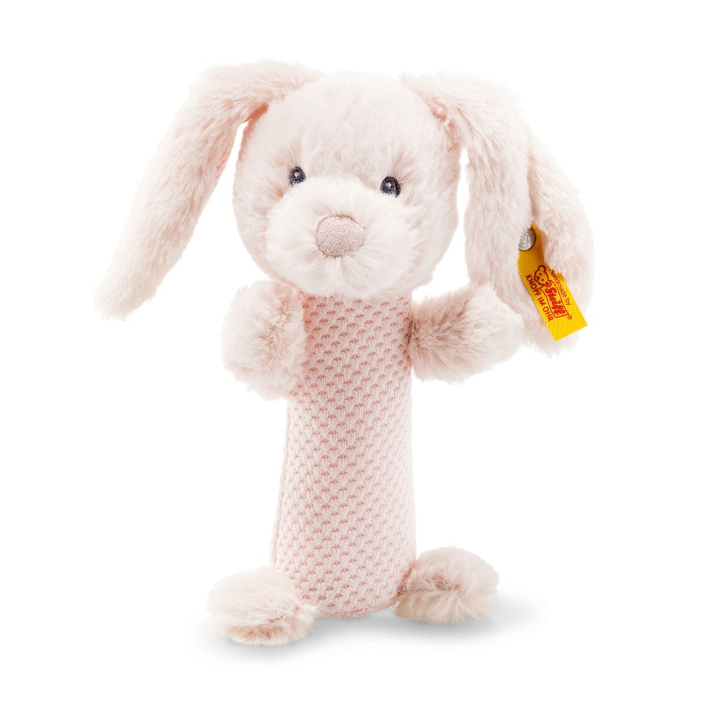 Steiff Soft Cuddly Friends Belly Rabbit Rattle - EAN 240805