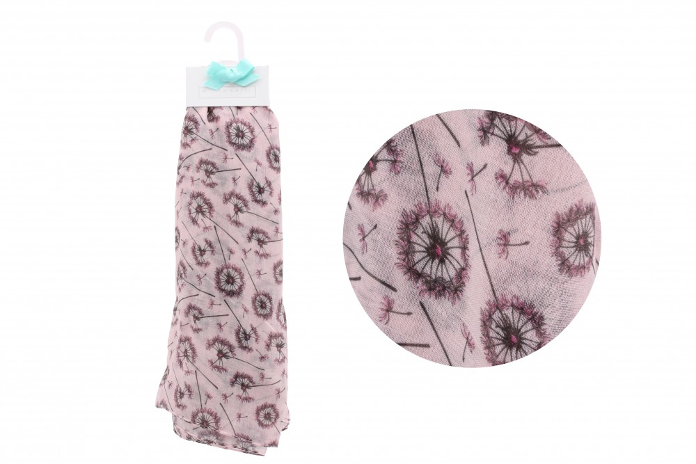 Pink Dandelion Scarf - Willow & Rose