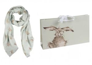 Green Leaping Hare Scarf - Wrendale Designs